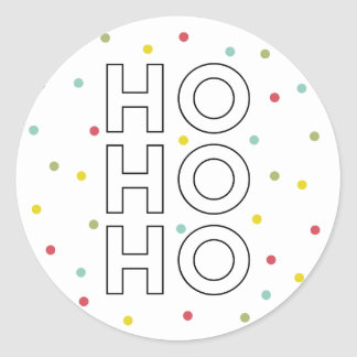 Ho Ho Ho Colorful Confetti Dots Holiday Sticker