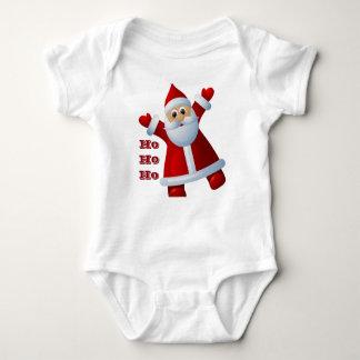 HO! HO! HO! Cute Santa Claus Merry Christmas Baby Bodysuit