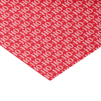 Ho Ho Ho Funny Red and White Santas Gifts Tissue Paper