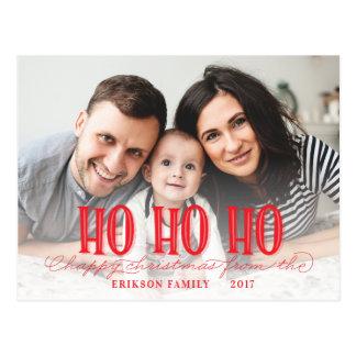 HO HO HO HAPPY CHRISTMAS POSTCARD
