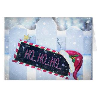 HO HO HO Happy Holiday Christmas Card