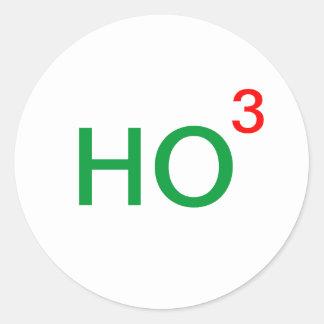 Ho Ho Ho Ho to the third power Classic Round Sticker
