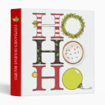 HO HO HO Holiday Recipe or Photo Binder