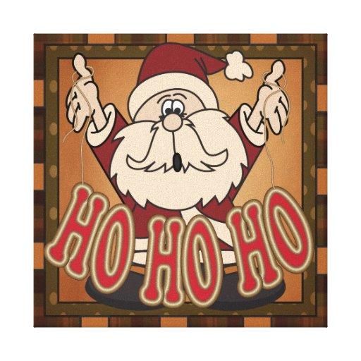 Ho Ho Ho Holiday Santa Claus Canvas Canvas Prints