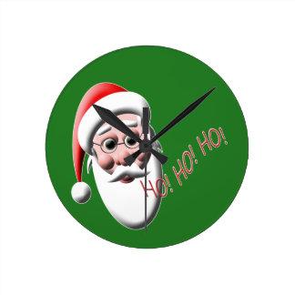 Ho ! Ho ! Ho ! Horloge verte de cuisine de Noël de