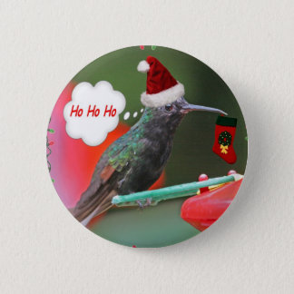 Ho Ho Ho Hummingbird 2 Inch Round Button