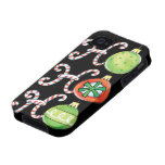 Ho Ho Ho in Candy Canes and Christmas Ornaments iPhone 4/4S Cases