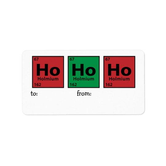 Ho Ho Ho Label