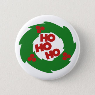 Ho Ho Ho Merry Christmas 2 Inch Round Button
