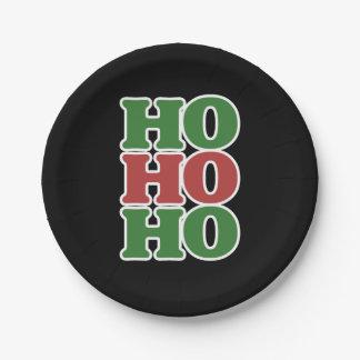 Ho ho ho merry Christmas Paper Plate