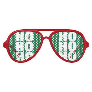Ho Ho Ho Merry Christmas Santa Claus party shades