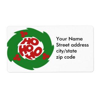 Ho ho ho Merry Christmas Shipping Label