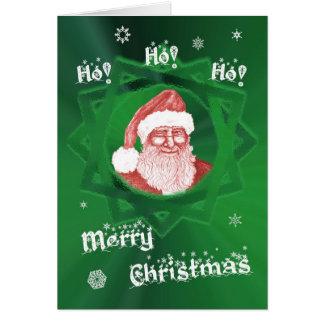 Ho! Ho! Ho! Merry Christmas! Winking Santa Card