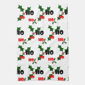 Ho Ho Ho Mistletoe Dish Towel