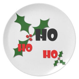 Ho Ho Ho Mistletoe Melamine Plate