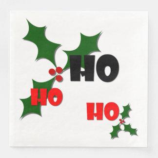 Ho Ho Ho Mistletoe Paper Napkins
