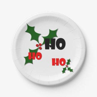 Ho Ho Ho Mistletoe Paper Plate