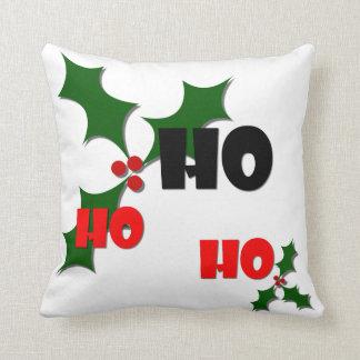 Ho Ho Ho Mistletoe Pillow