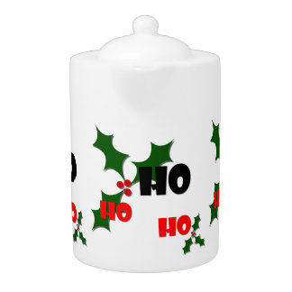Ho Ho Ho Mistletoe Teapot