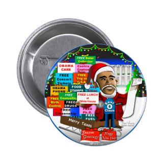 Ho Ho Ho Obama 2 Inch Round Button
