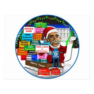 Ho Ho Ho Obama Postcard