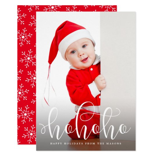 Ho Ho Ho Overlay Holiday Photo Card