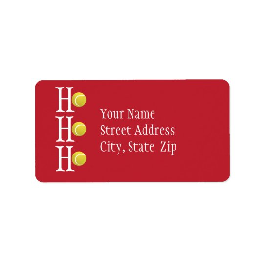 HO-HO-HO - personalized address label