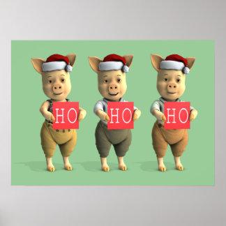 Ho Ho Ho Piglets Poster
