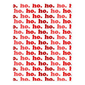 ho. ho. ho. postcard