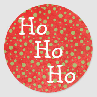 Ho Ho Ho Red & Green Christmas Stickers