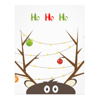 Ho Ho Ho Reindeer Personalized Letterhead