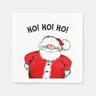 HO! HO! HO! Santa Christmas Party Paper Napkins