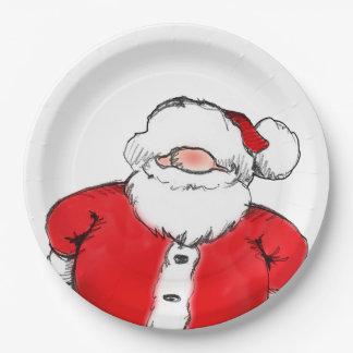 HO! HO! HO! Santa Christmas Party Paper Plates 9 Inch Paper Plate
