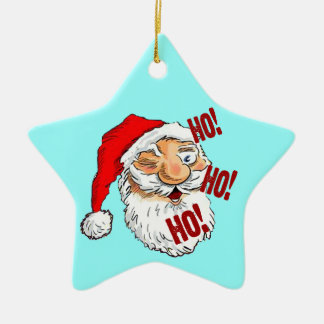 Ho Ho Ho Santa Claus Ceramic Ornament