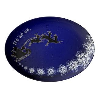 Ho ho ho Santa Porcelain Serving Platter