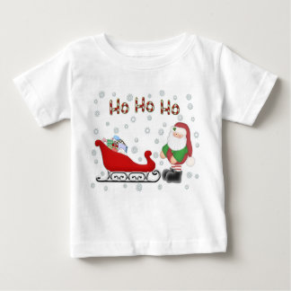 Ho Ho Ho Santas Sleigh Toddlers White T-Shirt