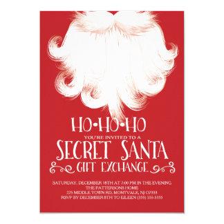 """HO HO HO Secret Santa Christmas Party 5"""" X 7"""" Invitation Card"""