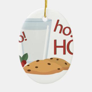 Ho Ho Ho Snack Ceramic Oval Ornament
