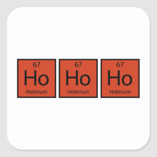 Ho Ho Ho Square Sticker