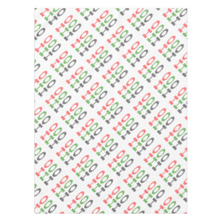 HO HO HO - strips - red, green, red. Tablecloth