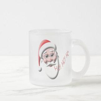 Ho ! Ho ! Ho ! Tasse de Noël en verre givré de