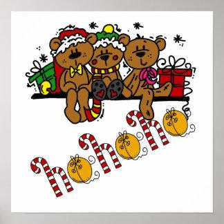 Ho Ho Ho Teddy Bears Poster