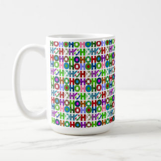 HO HO HO Typography Pattern Coffee Mug