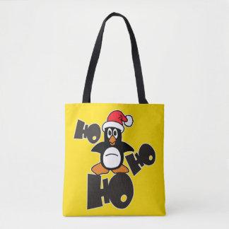 HO HO HO Xmas Penguin + your backgr. & ideas Tote Bag
