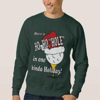 Ho Ho Hole in One Christmas Golf Ball Sweatshirt