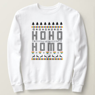 Ho Ho Homo Gay Pride Funny Ugly Christmas Sweater