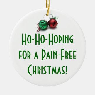 Ho-Ho-Hoping... Round Ceramic Ornament