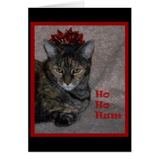 Ho Ho Hum Cat Card