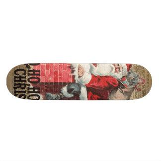 Ho, Ho joyeux art de Chirstmas le père noël Skateboards