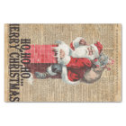 Ho,Ho Merry Chirstmas Santa Claus Dictitionary Art Tissue Paper